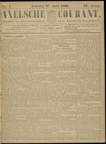 Axelsche Courant 1918-04-27