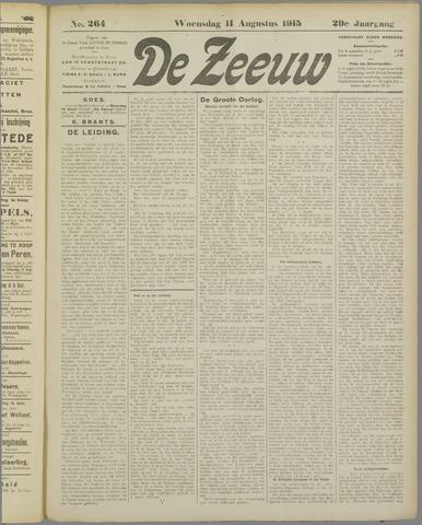 De Zeeuw. Christelijk-historisch nieuwsblad voor Zeeland 1915-08-11