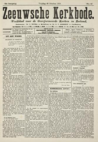 Zeeuwsche kerkbode, weekblad gewijd aan de belangen der gereformeerde kerken/ Zeeuwsch kerkblad 1918-10-25
