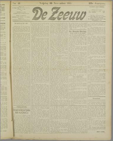 De Zeeuw. Christelijk-historisch nieuwsblad voor Zeeland 1917-11-16