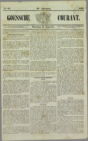 Goessche Courant 1862-08-11