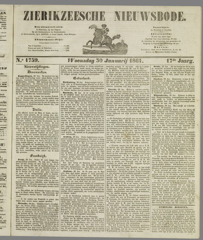 Zierikzeesche Nieuwsbode 1861-01-30