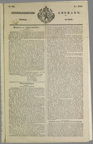 Zierikzeesche Courant 1844-04-26