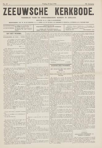 Zeeuwsche kerkbode, weekblad gewijd aan de belangen der gereformeerde kerken/ Zeeuwsch kerkblad 1936-06-19