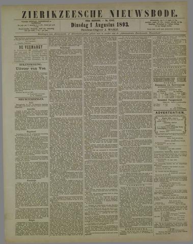 Zierikzeesche Nieuwsbode 1893-08-01
