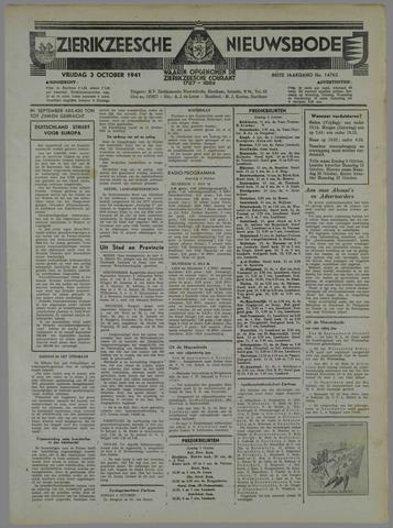 Zierikzeesche Nieuwsbode 1941-10-01