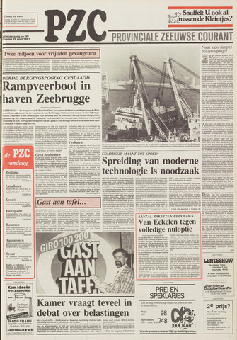 Provinciale Zeeuwse Courant 1987-04-28