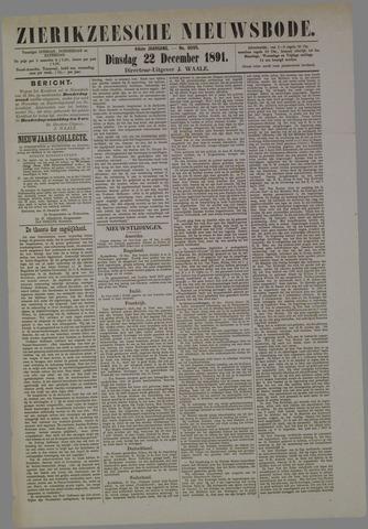 Zierikzeesche Nieuwsbode 1891-12-22