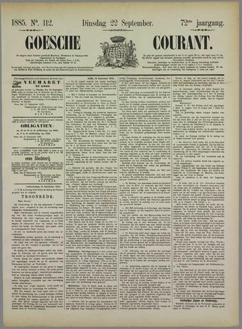 Goessche Courant 1885-09-22