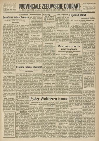Provinciale Zeeuwse Courant 1947-04-24