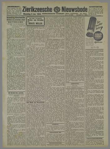 Zierikzeesche Nieuwsbode 1933-01-09