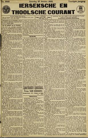 Ierseksche en Thoolsche Courant 1923-10-27