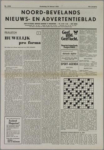 Noord-Bevelands Nieuws- en advertentieblad 1983-02-24