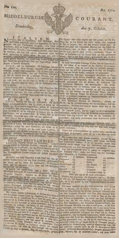 Middelburgsche Courant 1779-10-07