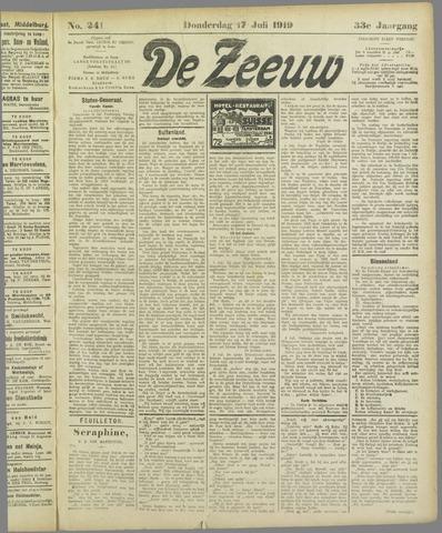 De Zeeuw. Christelijk-historisch nieuwsblad voor Zeeland 1919-07-17