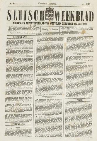 Sluisch Weekblad. Nieuws- en advertentieblad voor Westelijk Zeeuwsch-Vlaanderen 1873-01-21
