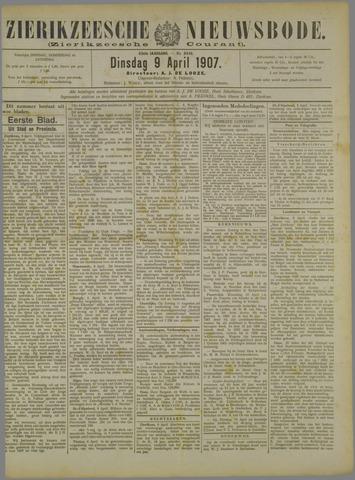Zierikzeesche Nieuwsbode 1907-04-09
