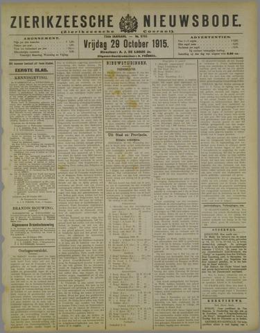 Zierikzeesche Nieuwsbode 1915-10-29