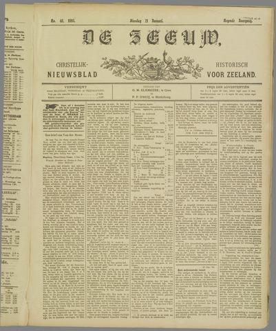 De Zeeuw. Christelijk-historisch nieuwsblad voor Zeeland 1895-01-21