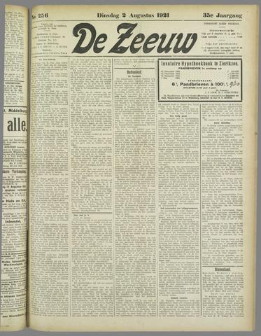 De Zeeuw. Christelijk-historisch nieuwsblad voor Zeeland 1921-08-02