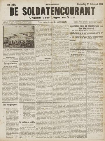 De Soldatencourant. Orgaan voor Leger en Vloot 1916-02-16