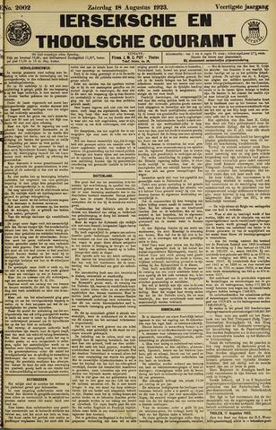 Ierseksche en Thoolsche Courant 1923-08-18