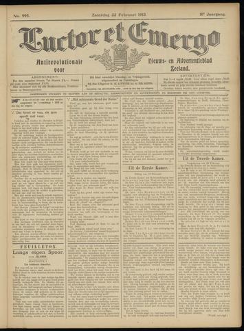 Luctor et Emergo. Antirevolutionair nieuws- en advertentieblad voor Zeeland / Zeeuwsch-Vlaanderen. Orgaan ter verspreiding van de christelijke beginselen in Zeeuwsch-Vlaanderen 1913-02-22