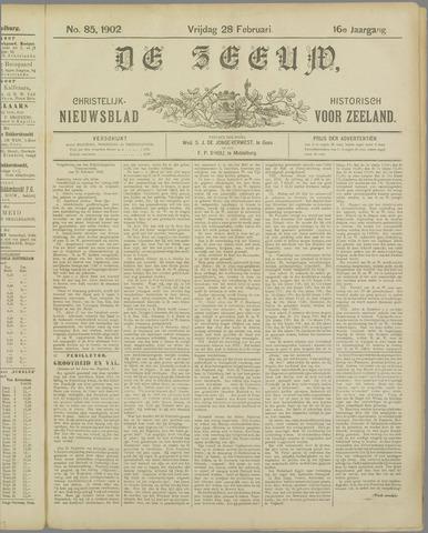 De Zeeuw. Christelijk-historisch nieuwsblad voor Zeeland 1902-02-28