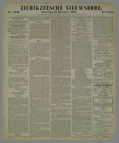 Zierikzeesche Nieuwsbode 1881-12-24