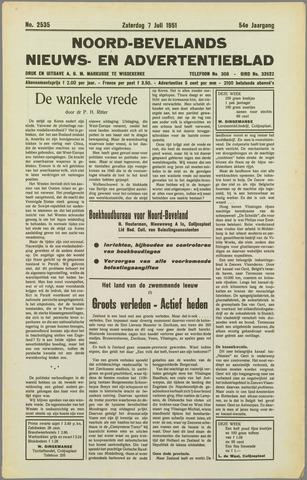 Noord-Bevelands Nieuws- en advertentieblad 1951-07-07