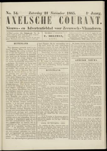Axelsche Courant 1885-11-21
