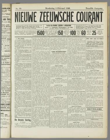 Nieuwe Zeeuwsche Courant 1916-02-03