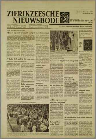 Zierikzeesche Nieuwsbode 1962-10-18
