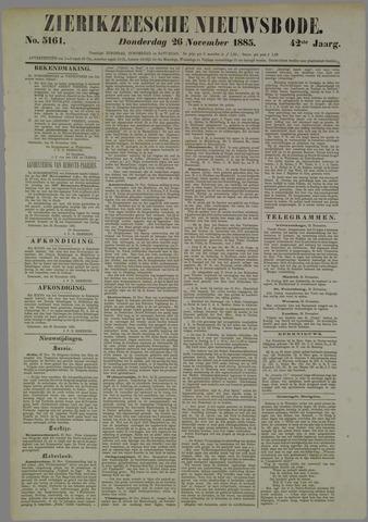 Zierikzeesche Nieuwsbode 1885-11-26