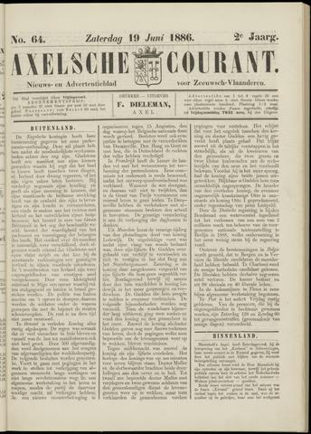 Axelsche Courant 1886-06-19
