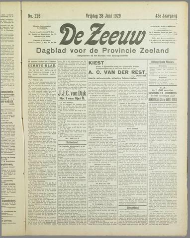 De Zeeuw. Christelijk-historisch nieuwsblad voor Zeeland 1929-06-28