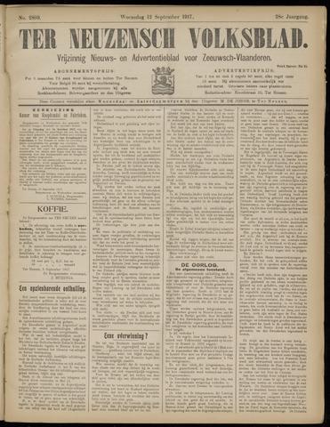 Ter Neuzensch Volksblad. Vrijzinnig nieuws- en advertentieblad voor Zeeuwsch- Vlaanderen / Zeeuwsch Nieuwsblad. Nieuws- en advertentieblad voor Zeeland 1917-09-12