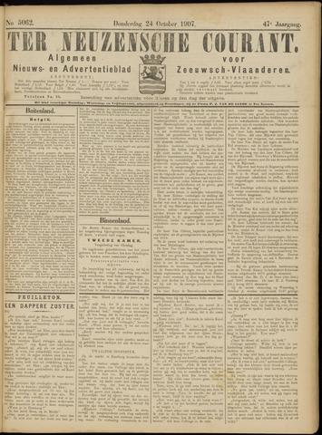 Ter Neuzensche Courant. Algemeen Nieuws- en Advertentieblad voor Zeeuwsch-Vlaanderen / Neuzensche Courant ... (idem) / (Algemeen) nieuws en advertentieblad voor Zeeuwsch-Vlaanderen 1907-10-24