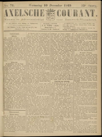 Axelsche Courant 1919-12-10