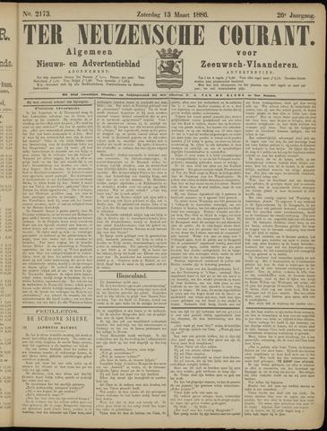 Ter Neuzensche Courant. Algemeen Nieuws- en Advertentieblad voor Zeeuwsch-Vlaanderen / Neuzensche Courant ... (idem) / (Algemeen) nieuws en advertentieblad voor Zeeuwsch-Vlaanderen 1886-03-13