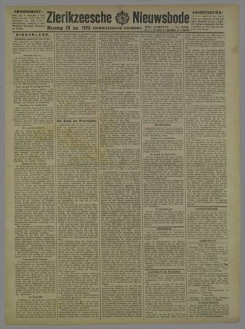 Zierikzeesche Nieuwsbode 1923-01-29