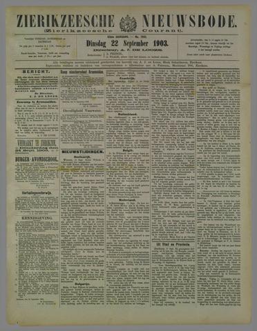 Zierikzeesche Nieuwsbode 1903-09-22