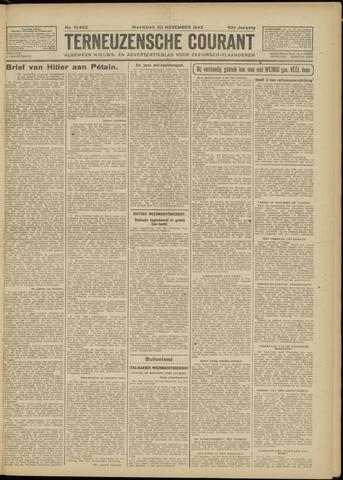 Ter Neuzensche Courant. Algemeen Nieuws- en Advertentieblad voor Zeeuwsch-Vlaanderen / Neuzensche Courant ... (idem) / (Algemeen) nieuws en advertentieblad voor Zeeuwsch-Vlaanderen 1942-11-30