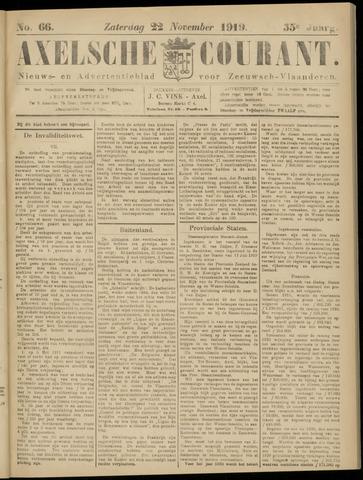 Axelsche Courant 1919-11-22