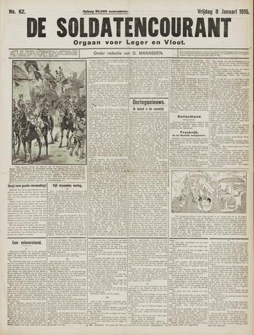 De Soldatencourant. Orgaan voor Leger en Vloot 1915-01-08