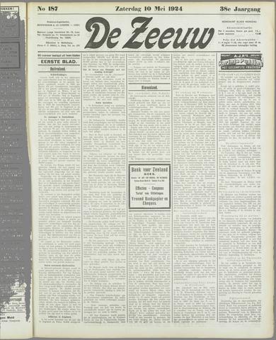 De Zeeuw. Christelijk-historisch nieuwsblad voor Zeeland 1924-05-10