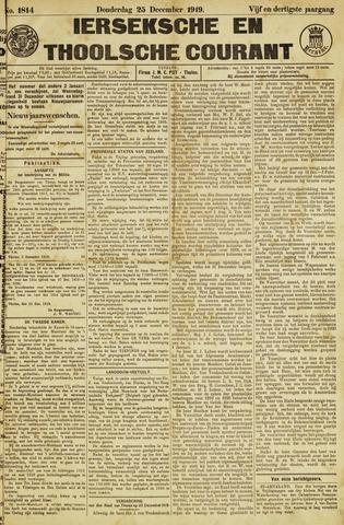 Ierseksche en Thoolsche Courant 1919-12-25