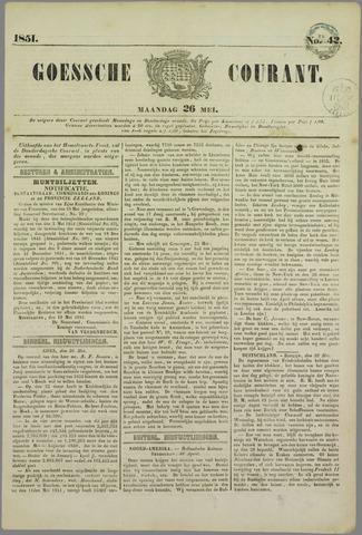 Goessche Courant 1851-05-26