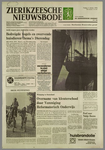 Zierikzeesche Nieuwsbode 1976-10-01