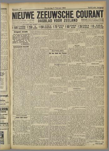 Nieuwe Zeeuwsche Courant 1922-02-02